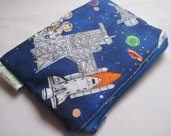 Galaxy  Zippered Reusable Snack Bag by GoSewEco