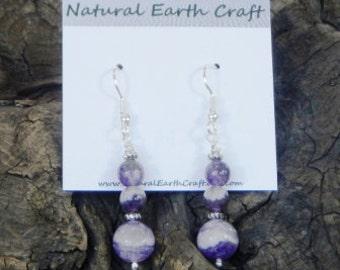 Pale purple amethyst earrings semiprecious stone jewelry February birthstone  packaged in a gift bag 2533