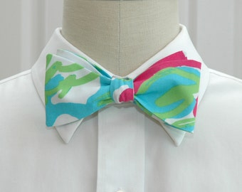 Lilly Bow Tie in pop pink Delicacy (self-tie)