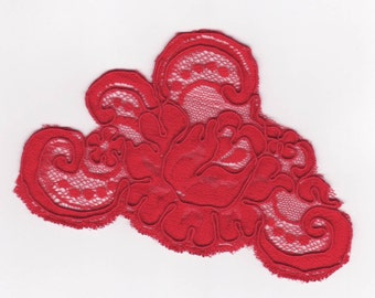 Red Lace motifs