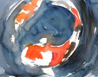 Koi Fish No.4, limited edition of 50 fine art giclee prints form my original watercolor
