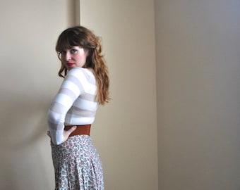 Small Floral Skirt - Small - Medium Skirt - Light Pastel Florals Country Girl Spring Skirt