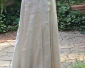 1910 White Linen Floor Length Skirt