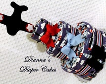 Airplanes Baby Diaper Cake Shower Centerpiece or Gift