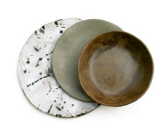 Rustic Birch Bark Dinnerware 4 Place Set