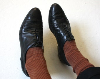 Vintage Sz10 Italian Leather Flats By Giorgio Brutini Made in Italy 80s