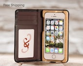 The Little Pocket Book case for iPhone 5/5S/SE - Onyx Black/French Roast