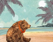 Beach Bear  // Signed A4 print