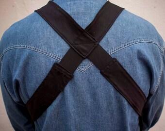 All Black Holster Bag,Unisex Body Wallet,Festival Pockets Vest