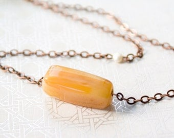 Rectangle Agate Necklace