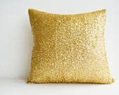 Bright and Shiny Gold Sequin Pillow Cover , Gold Holiday Decor , Throw Pillow , Gold Decorative Pillow , Glitter Pillow , Sparkle Pillow