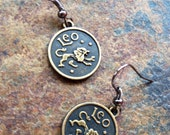 Zodiac Leo Earrings by VZuniga Designs
