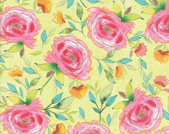 Fleurologie - Floral Beauty in Luminary by Stephanie Ryan for Moda Fabrics - Last Yard