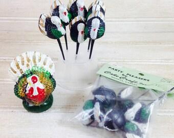 Vintage Thanksgiving Turkey Cupcake Picks
