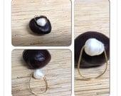 Large White Freshwater Pearl Ring Size 7 3/4