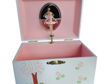 Hand-Painted Personalized Children's Ballerina Jewelry Box with Music!