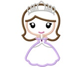 Princess Sofia Applique Machine Embroidery Design 4x4 5x7 6x10 the first INSTANT DOWNLOAD