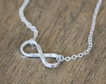Sterling Silver Infinity Necklace - simple modern everyday jewelry