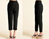Narrow Ankle Women's Linen Pants with Elastic Waist / Easy to Wear!/ 22 Colors/ RAMIES