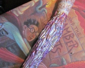 Handmade Purple Gold Shell Wizard Magic Wand One of a Kind
