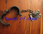 Wall Mounted Hand Cuffs Handcuffs Bondage BDSM Bonds of Steel Master Slave Play SM Mature
