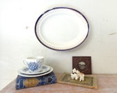 Vintage Bleu De Roi Platter with hanger