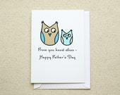 Father's Day Owl Note Card