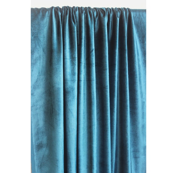 Peacock Blue Velvet Curtain 52 Quot X84 Quot Rod Pocket Curtain