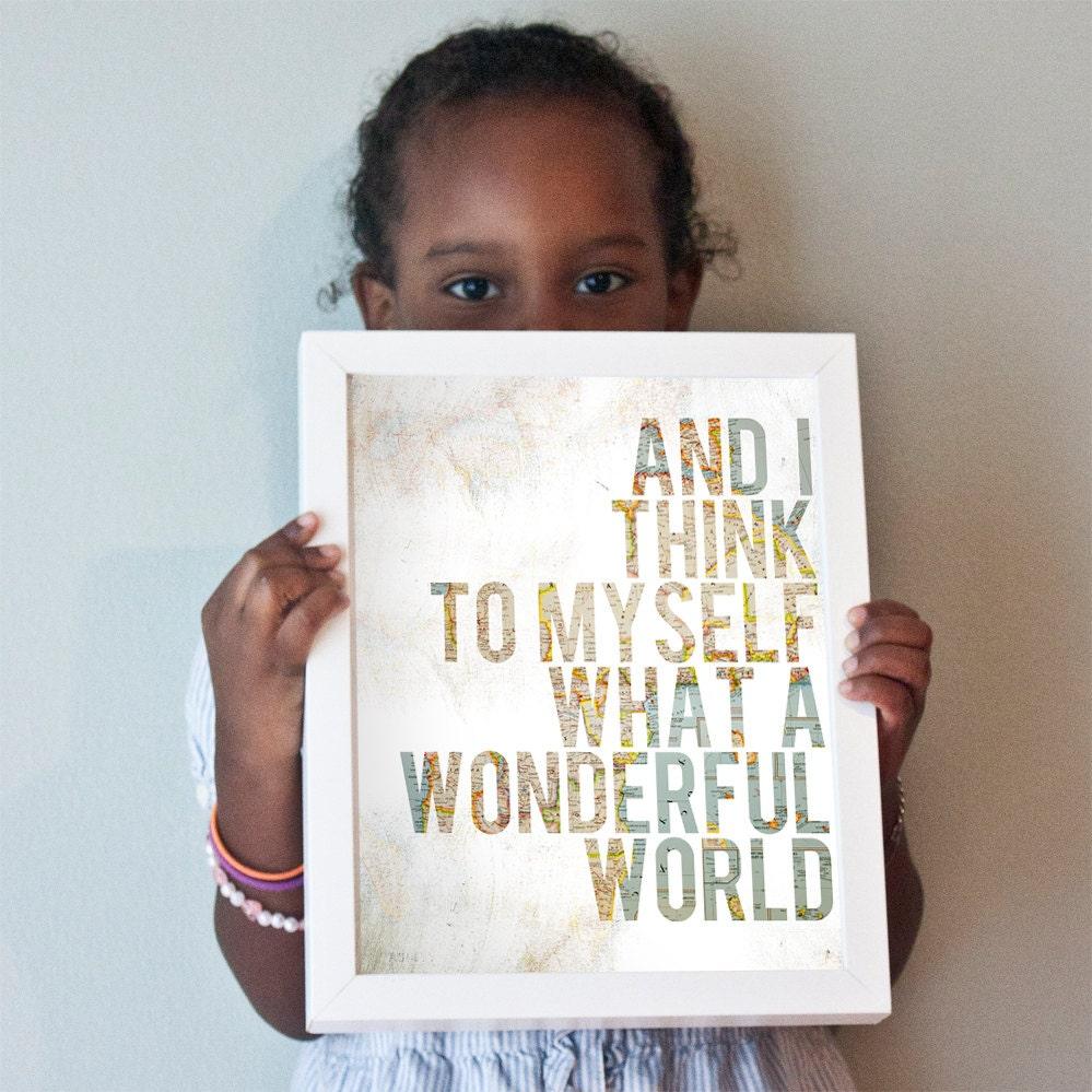 Printable 8x10 Wonderful World