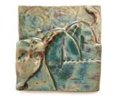 Sale: Sea Dragon Tile - 6 inches Sea Serpent Art Tile Water Dragon Mythical Mystical Fantasy Gift Ceramic Tile