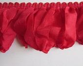 Amazing ribbon Fringe VENITIAN RED