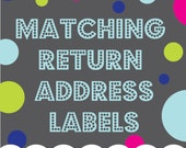 Printable Return Address Labels to Match any Invitation Design from OhCreativeOne, DIY digital file