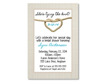 Tying the knot, Bridal Shower Invitation - You Print