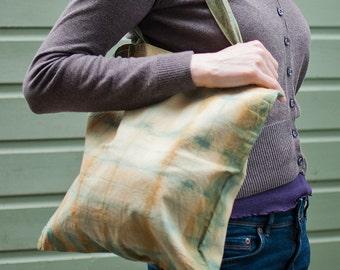 Tie dye organic cotton tote bag