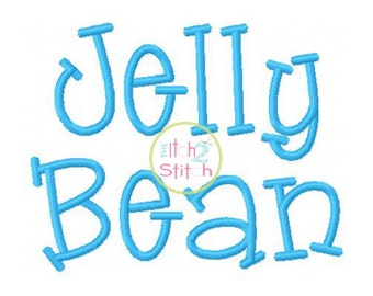 "Jelly Bean Machine Embroidery  Font  1"", 1.5"" &  2"" (upper and lower A-Z) INSTANT DOWNLOAD now available"