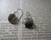 simple round disk earrings, sterling silver (shiny or hammered)