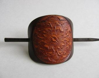 Leather Barrette/ Large