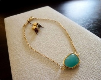 ANDAMOOKA - Pacific Opal with Stars Chain Bracelet