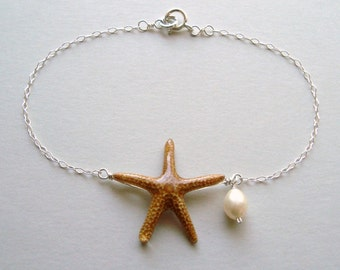 Starfish Anklet, Real Starfish Bracelet, Beach Bracelet, Beach Anklet, Bridal Jewelry, Bridesmaids Jewelry