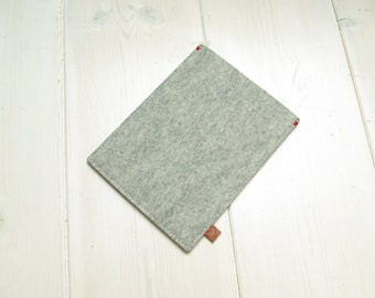 KINDLE KOBO PAPERWHITE cover case - wool felt in Grey - Ereader sleeve, case, Kobo Aura, Glo, Touch, Voyage