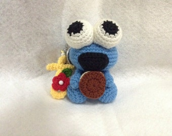 Cute Baby Cookie Monster Bag Charm/Keychain