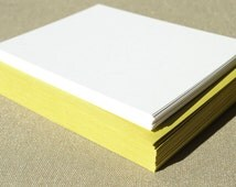 Blank Stationery Set with Chartreuse Green Envelopes - Set of 20 Flat A2 Size Cards