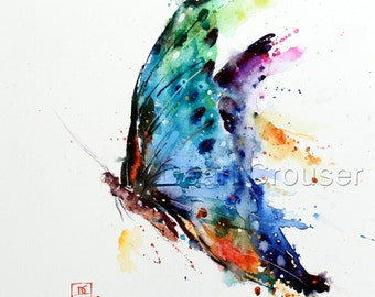 BUTTERFLY Extra Large Watercolor Print by Dean Crouser