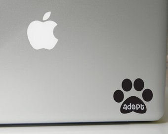 Paw Print decal, adopt decal, rescue decal, custom decal, paw print, paw print sticker, paw print car decal, adopt, rescue