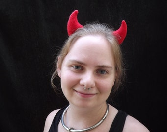 Kawaii Lil Devil Horns Cosplay Halloween Cute Hair Barrettes Rave Festival