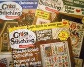 Cross Country Stitching Magazines - Cross Stitch Patterns - Three 2004 Issues