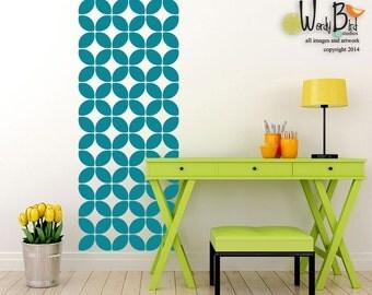 Modern Wall Pattern Decal stickers set - mid century design