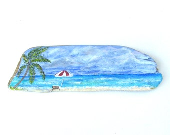 Painted Driftwood Lazy Day at the Beach