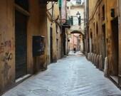 Italian decor, alley, Europe - Sunday Morning in Pisa - Italy, Tuscany, Europe photography, 8x10, 11x14, 16x20, 24x30
