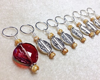 Snag Free Knitting Stitch Markers- Beaded stitch marker set- Gift for Knitters